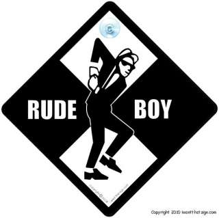 RUDE BOY Sign / SKA Fan Car Sign / Two Tone Sign Reggae