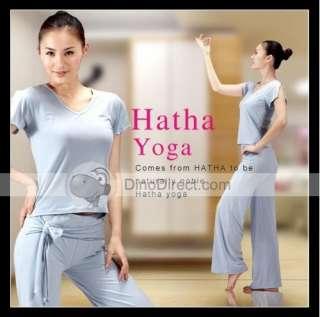 Wholesale HATHA HATHA H057 Womens Yoga Bamboo Fabric Short Sleeve Top