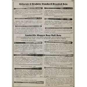 1934 Ad Louisville Slugger Bats Babe Ruth Lou Gehrig   Original Print