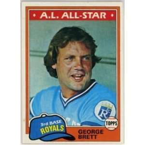 George Brett Kansas City Royals 1981 Topps #700 Baseball