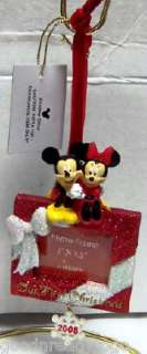 DISNEY MICKEY MINNIE OUR FIRST CHRISTMAS PHOTO ORNAMENT