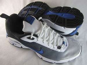 Nike Mens Dual Fusion TR II White Black Blue Running Athletic Sneakers
