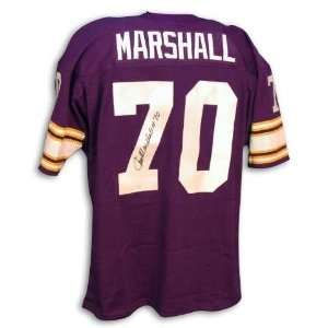 Autographed Jim Marshall Minnesota Vikings Purple