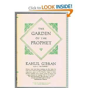 Garden of the Prophet, The: Kahlil Gibran, Kahlil Gibran: Books
