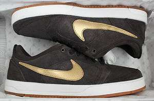 NIKE Zoom Paul Rodriguez 4 sz 6.5 P Rod IV SB Tar Metallic Gold 6.0 2