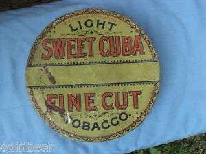 Antique Sweet Cuba Tobacco Tin 1 lb. Can DANIEL SCOTTEN