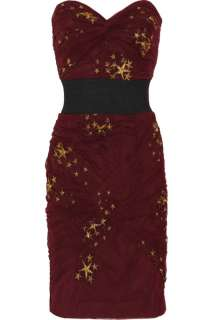 Foley + Corinna Embroidered star ruched tulle dress   84% Off Now at