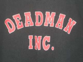 WWF WWE Wrestling The Undertaker Deadman Inc. Logo Mens Shirt XXL 2XL