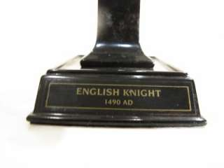 VERY RARE ENGLISH KNIGHT SOLDIER ARMOR STATUE ART SG
