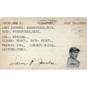 Sam P. Jones Autographed / Signed 3x5 Card Everything