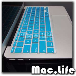 AQUA BLUE Soft Keyboard Cover Skin for Macbook Air 11