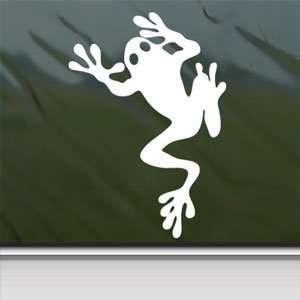 FROG FROGGY TODD TADD POLE White Sticker Laptop Vinyl