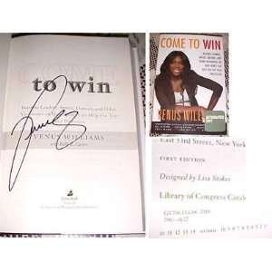 Venus Williams Signed Come To Win HC BOOK 1/1 COA Sports