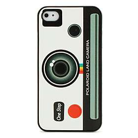 US$ 6.69   Polaroid Land Camera Pattern Protective Case for iPhone 4