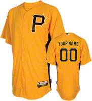 Pittsburgh Pirates JerseyPersonalized Authentic GoldOn Field Batting