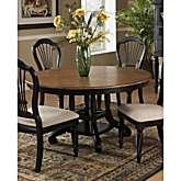 Hillsdale Furniture Wilshire Round/ Oval Dining Table in Rubbed Black