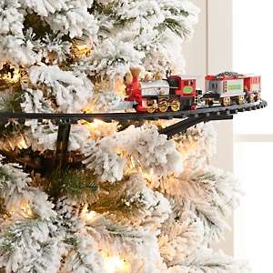 Winter Lane Christmas Tree 3 Car Train with Light and Sound