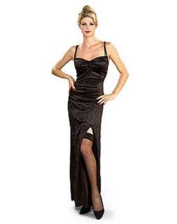 Adult Womens Black Velvet Witch Dress