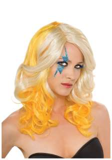 and Yellow Lady Gaga Wig   Licensed Lady Gaga Costume Accessories