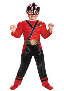 Child Power Rangers Costumes Toddler Red Power Ranger Samurai Costume