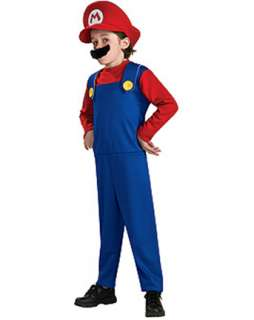 Child Super Mario Bros Mario Costume  TV and Movie Halloween Costumes