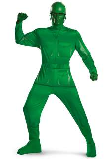 Adult Green Army Man Costume   Adult Toy Story Costumes