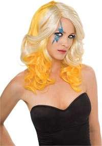 Lady Gaga Blonde/Yellow Wig   Lady Gaga Costume Accessories