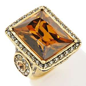 Heidi Daus Fabulous Rocks Crystal Accented Frame Ring
