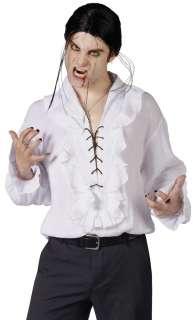 Vampire Shirt White  Gothic Vampire White Costume Shirt