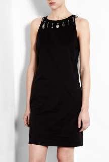 Love Moschino  Black Cotton Stretch Sleeveless Dress by Love Moschino