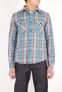 Edwin  Blue Check Flannel Shirt by Edwin