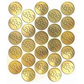 metallic gold heart sticker seals 25 count regular $ 4 99 price $ 3 99
