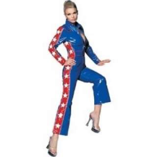 Adult Sexy Vinyl Racer Girl Jumpsuit Costume   Sexy Race Car Driver