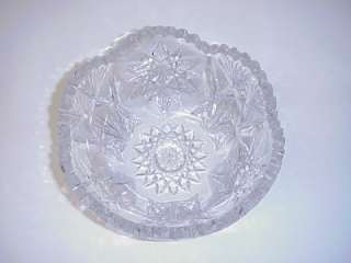 AMERICAN BRILLIANT PERIOD CUT GLASS BOWL STAR PATTERN