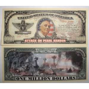 Set of 10 Bills Pearl Harbor Million Dollar Bill Toys & Games