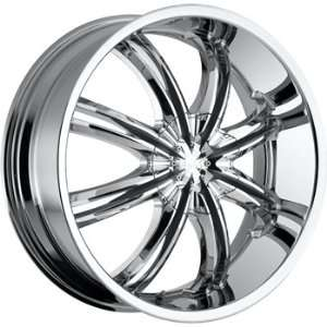 Voo Doo 415 22x8.5 Chrome Wheel / Rim 5x100 & 5x4.5 with a 40mm Offset
