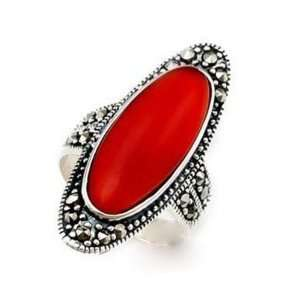 Agate Red or Green or Black Color Ring Jewelry 6.56 G Kitchen