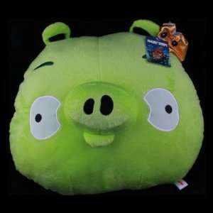 Cute Angry Birds Piggy Plush Doll   Green: Toys & Games