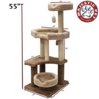Majestic Pet 78899578210 55 Kitty Jungle Gym Cat Tree