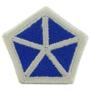 U.S. Army 5th Corps Patch Blue & Grey3 Patio, Lawn