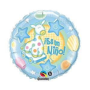 Nino Spanish 18 Mylar Foil Baby Shower Party Balloon