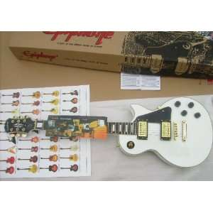 Gibson Les Paul Custom Alpine White White Guitar Musical Instruments
