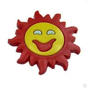 Happy big Sunface   style your crocs shoe charm #1339, Clogs stickers