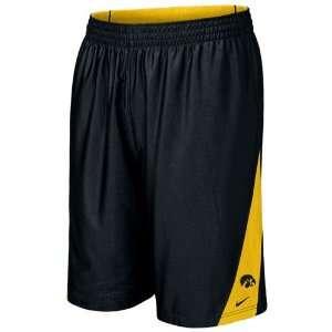 Nike Iowa Hawkeyes Black Gold Reversible Basketball Shorts