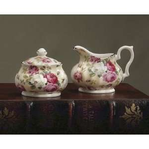 Royal Patrician Bone China Creamer & Sugar Set Antique