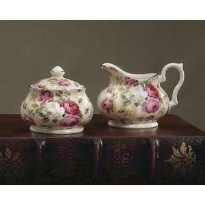 Royal Patrician Bone China Creamer & Sugar Set Antique