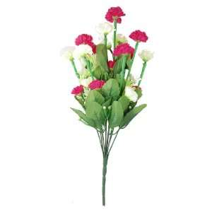 Wedding Home Red Light Green Artificial Flower Stem Lilac Bush Bouquet