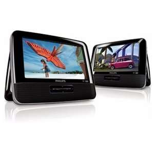 Dual Screen Portable DVD Player with Dual DVD Players Electronics