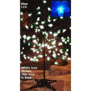 Blue LED Cherry Blossom Tree 90 Flowers with Foliage