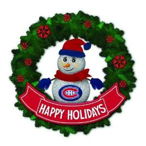 Canadians Lighted Snowman Artificial Christmas Wreath